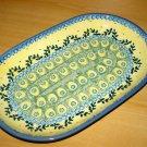 Polish Pottery Platter Unikat Kaitlyn Boleslawiec Poland