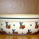 Polish Pottery Bowl From Boleslawiec Poland Cherrie's Pattern