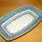 Polish Pottery Serving Dish Exclusive Unikat  Boleslawiec Poland