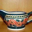 Polish Pottery Stoneware Boleslawiec Unikat Gravy Boat Art 124 Signed!