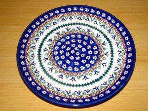 Polish Pottery Unikat Daisy Dessert Plate Art 104 Zaklady Ceramiczne Boleslawiec Poland