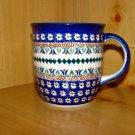 Polish Pottery Coffee Cup Art 104 Daisy Unikat Zaklady Ceramiczne Boleslawiec Poland