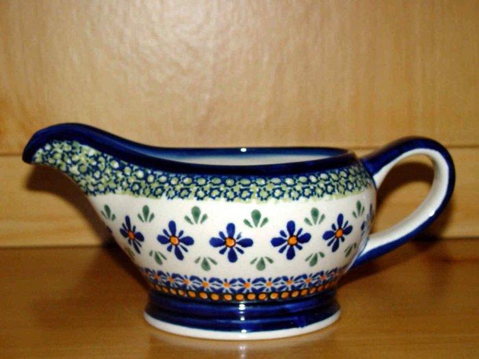 Polish Pottery Gravy Boat  New Hope Gat 1 Zaklady Ceramiczne Boleslawiec Poland
