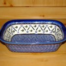 Polish Pottery Loaf Baker Festive Garden Unikat Zaklady Ceramiczne Boleslawiec