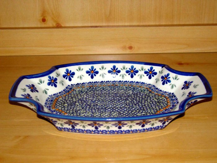 Polish Pottery Serving Tray Dish New Hope Unikat Zaklady Ceramiczne Boleslawiec Poland