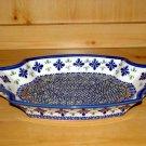 Polish Pottery Serving Tray Dish New Hope Unikat Zaklady Ceramiczne Boleslawiec Poland