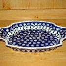 Polish Pottery Serving Tray Dish Peacock Zaklady C.eramiczne Boleslawiec