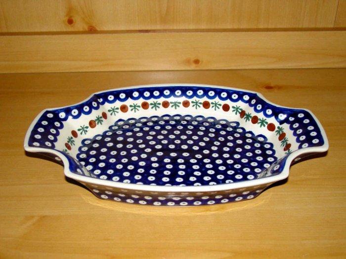 Polish Pottery Serving Tray Dish Nature Zaklady Ceramiczne Boleslawiec