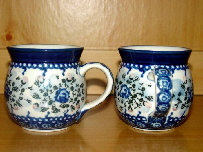 Polish Pottery Childrens Oh So Sweet Floral Bubble Mug Boleslawiec Poland