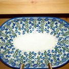 Polish Pottery Platter Signature Unikat Summer Woods From W.R. Ceramika Boleslawiec Poland