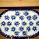 Polish Pottery Platter Signature Unikat Profusion From W.R. Ceramika Boleslawiec Poland