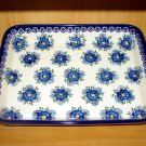Polish Pottery Baker Rectangular Profusion Unikat Signature WR Ceramika Boleslawiec Poland