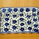 Polish Pottery Baker Rectangular Signature Violet Village From Unikat WR Ceramika Boleslawiec Poland