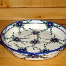 Polish Pottery Baker Serving Tray Large Signature Round Florette WR Unikat Boleslawiec Poland