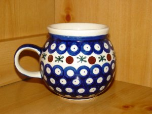 Polish Pottery Bubble Mug Nature Wiza Boleslawiec Poland