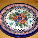 Polish Pottery Dinner Plate Unikat Garden Spray Art 149 Zaklady Ceramiczne  Signed