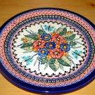 Polish Pottery Dinner Plate Unikat Garden Spray Art 149 Zaklady Ceramiczne  Signed