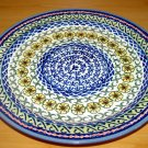 Polish Pottery Dinner Plate Unikat Sunflower Artist Signed Wiza Bolesalwiec Poland