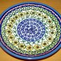 Polish Pottery Dessert Plate Unikat Sunflower Artist Signed Wiza Boleslawiec Poland
