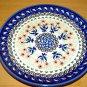 Polish Pottery Dessert Plate Unikat Art 144 Rose Bud Artist Signed Zaklady Ceramiczne
