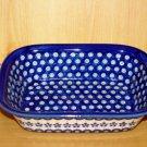 Polish Pottery Loaf Baker Flowering Peacock Zaklady Ceramiczne Boleslawiec Poland