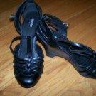 Black Wedge Heels Sz 10