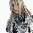 MENS / WOMENS ARAB SHEMAGH KEFFIYEH SCARF BLACK & WHITE