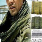 MENS / WOMENS ARAB SHEMAGH KEFFIYEH SCARF OLIVE GREEN & BLACK