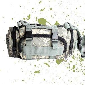 MULTI-PURPOSE ARMY MILITARY CAMO FANNY WAIST BAG - DIGITAL CAMO