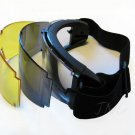 3 LENS MULTI PURPOSE AIRSOFT PAINTBALL SKIING PROTECTIVE GOGGLES