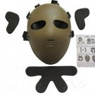 E.T. ALIEN FULL SAFETY IMPACT RESISTANCE AIRSOFT PAINTBALL PROTECTIVE FACE MASK