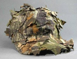Camo Leaf Cap Outdoor Jungle Hunting Hiking Airsoft Deciduous Leaves Bionic Hat