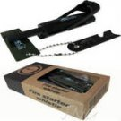 SURVIVAL MULTI TOOL FIRE STARTER FLINT+RULER+WHISTLE