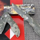 PHANTOM WARRIOR DIGITAL CAMO POCKET FOLDING KNIFE