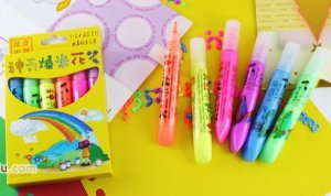 2010 New 6 Color Heat Expandable Puffy Paint Pen Funny