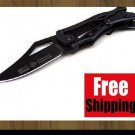 BRAND NEW BLACK TRANSFORMER SR COLUMBIA MECHANICAL BLACK STEEL FOLDING KNIFE TOOL