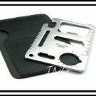 PATENT 10 in 1 MULTI-TOOL POCKET SURVIVAL CARD W/ POUCH