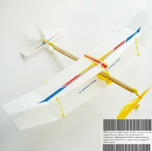 Sky Touch Rubber Band Elastic Powered Glider Plane Kit Flying Model Toy DF