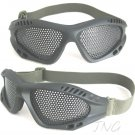 METAL MESH PROTECTION FLY GOGGLE ANTI IMPACT AIRSOFT PAINTBALL - DARK GREEN