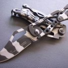 DESERT EAGLE CAMO MECHANICAL TACTICAL POCKET FOLDING KNIFE