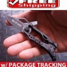 POCKET TRANSFORMER SR COLUMBIA MECHANICAL BLACK STEEL FOLDING KNIFE TOOL