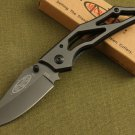 DARK KNIGHT TITANIUM COATING POCKET FOLDING KNIFE w BOX OUTDOOR CAMPING GEAR