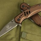 FIRE FOX TITANIUM COATING ALUMINIUM GRIP TACTICAL POCKET FOLDING KNIFE BEST BUY