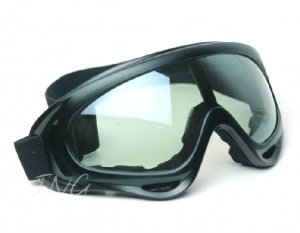 UV400 PROTECTION POLYCARBONATE MOTORCYCLE JET SKI SNOWBOARDING PADDED GOGGLES - CLEAR LENS