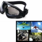 UV400 PROTECTION PAINTBALL PILOT MOTORCYCLE JET SKI SNOWBOARD PADDED GOGGLES