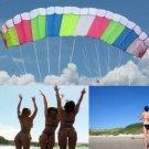 Eye Catching Pandora 3M Dual-line Control Parafoil Parachute Stunt Kite, Park Beach Fun
