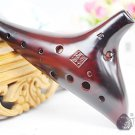 New Dragon Rythem - Masterpiece 12 Hole Alto Key of C Smoked Ceramic Ocarina Okarina