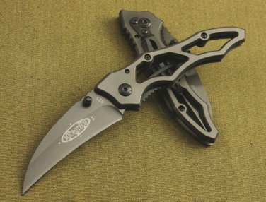Dark Knight 325 Claw Blade Pocket Folding Knife, Titanium Coating, with Box