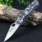 Ganzo Firebird - ACU Camo G10 Fiber Glass Anti-Slip Folding Tactical Survival Knife w/ Clip, Pouch