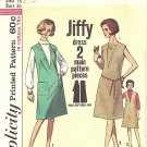 Simplicity #5536 Misses 1960s Inset V Option JIFFY Jumper Dress in 3 Views Bust 36 Pattern